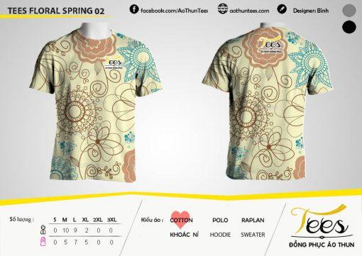 Mẫu áo thun đồng phục họa tiết Floral Spring 02