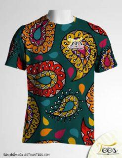 Mẫu áo thun đồng phục họa tiết Floral Spring 06