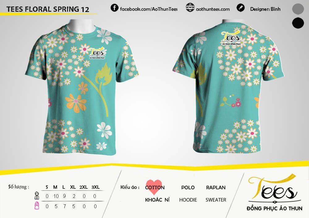 Mẫu áo thun đồng phục họa tiết Floral Spring 12