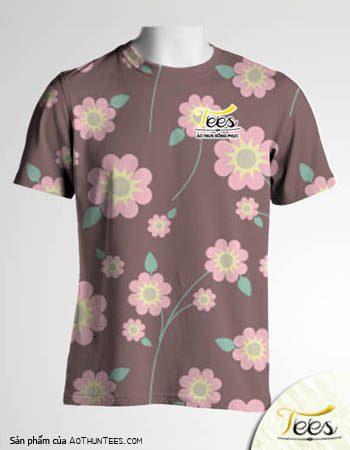 Mẫu áo thun đồng phục họa tiết Floral Spring 14