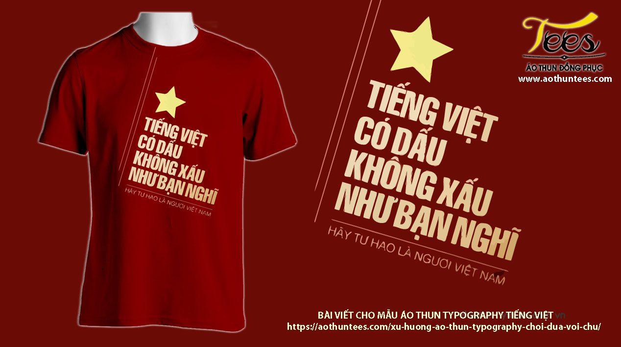 tiengviet typography - Xu hướng áo thun Typography (chơi đùa với chữ)