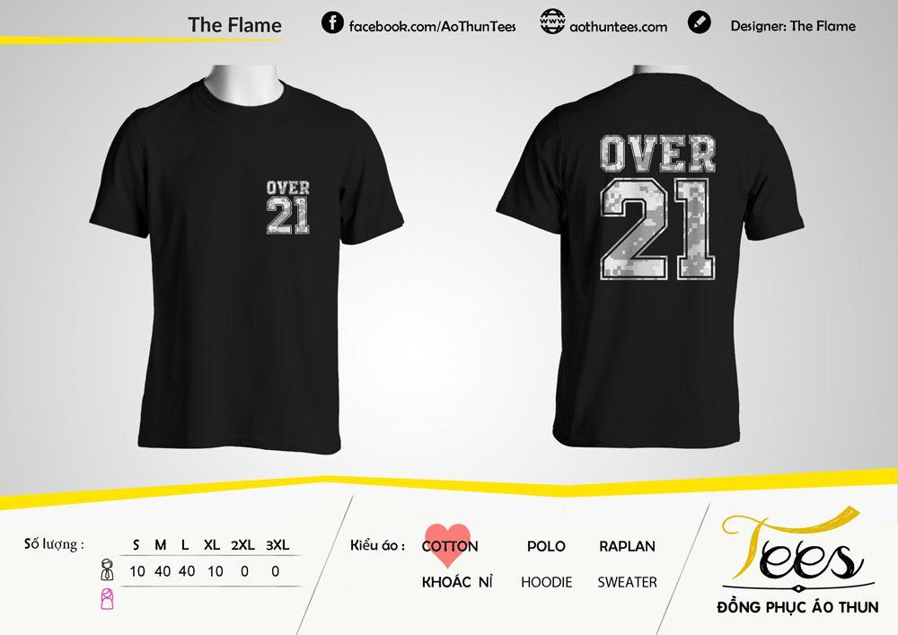 Áo thun Flame 21 Black