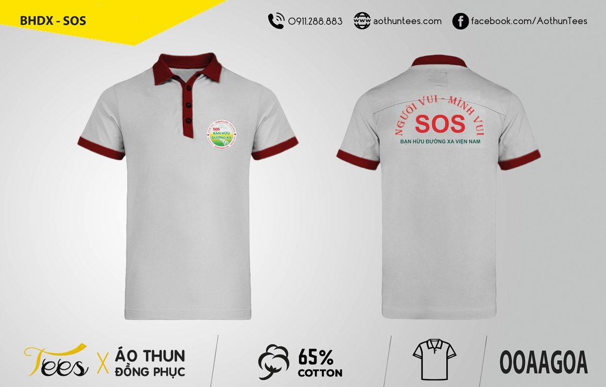 Áo thun đồng phục hội Bạn Hữu Đường Xa – SOS
