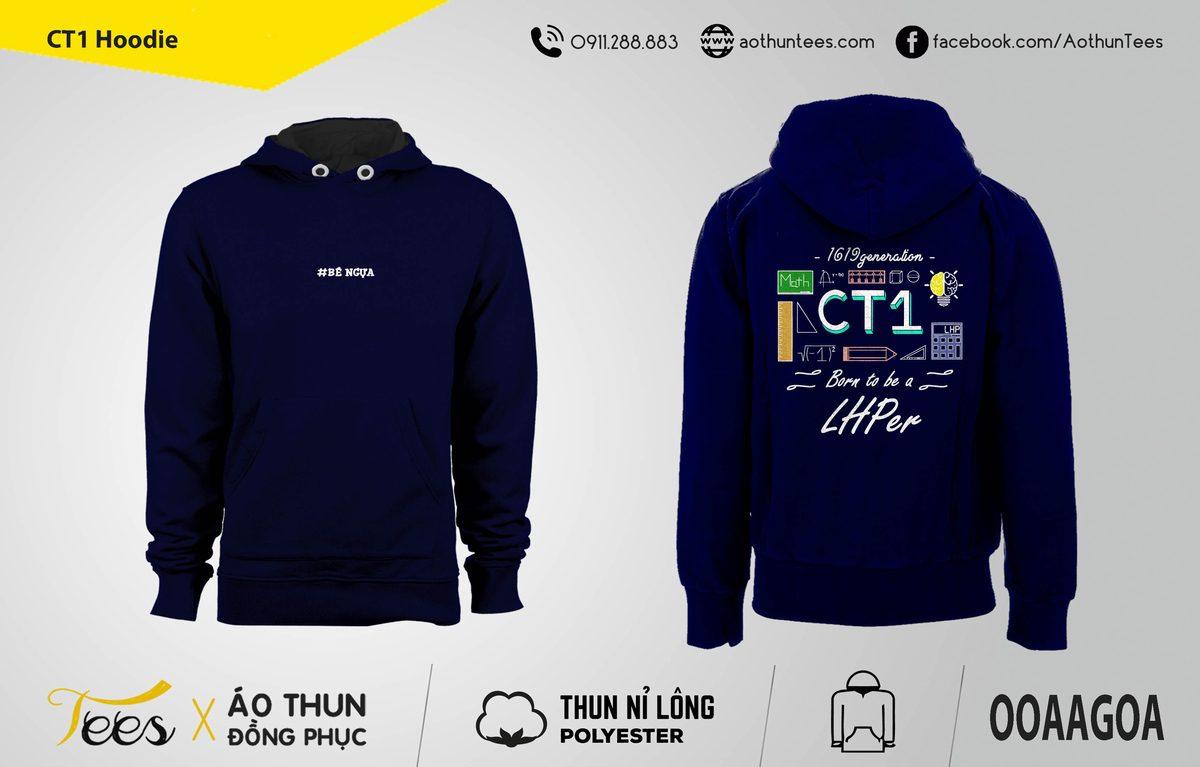 Áo hoodie CT1 trường THPT Lê Hồng Phong