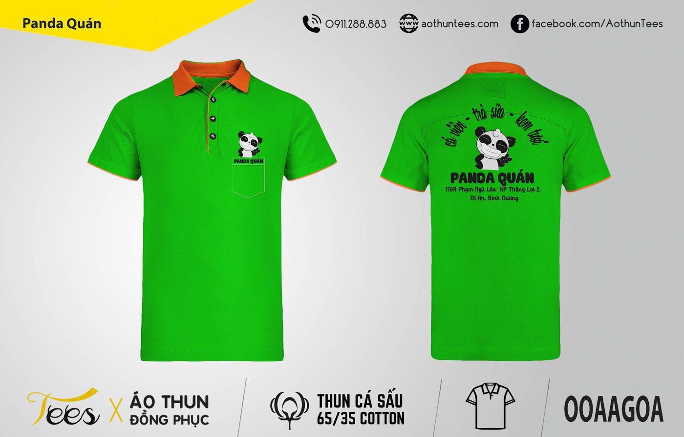 Áo thun đồng phục quán Panda