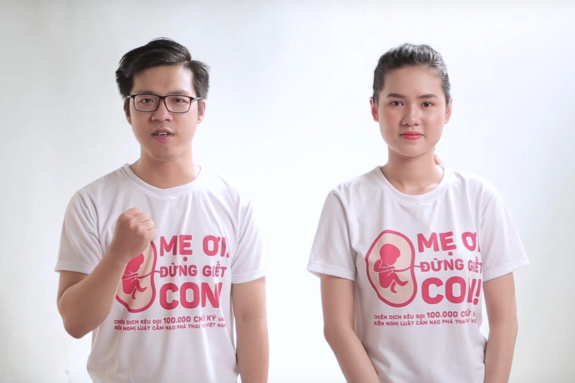 """Áo thun Chiến dịch """"Mẹ ơi! Đừng giết con!"""" của HTBC Foundation"""