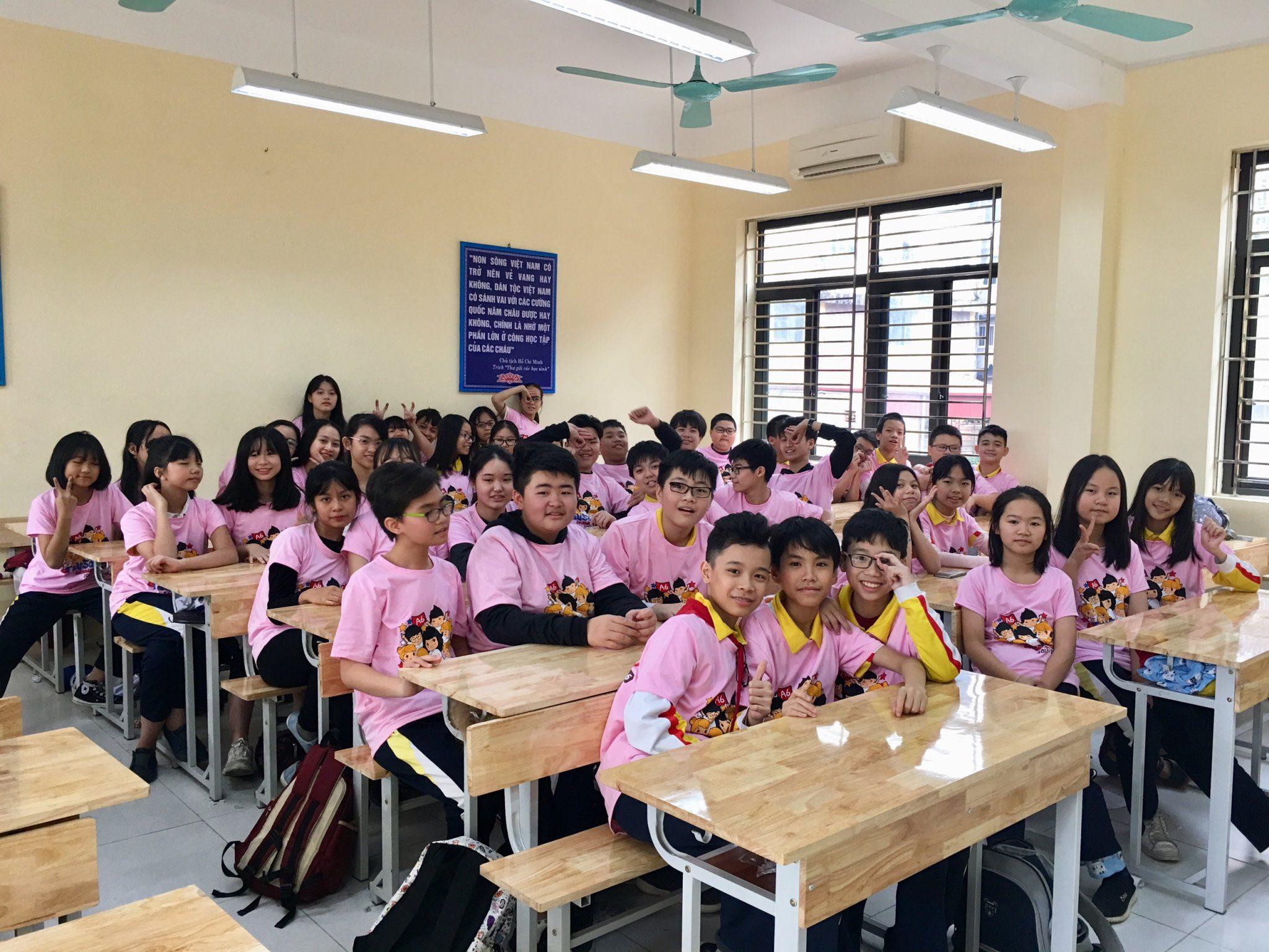 Áo thun lớp A6 trường THCS Sơn Tây – Hà Nội