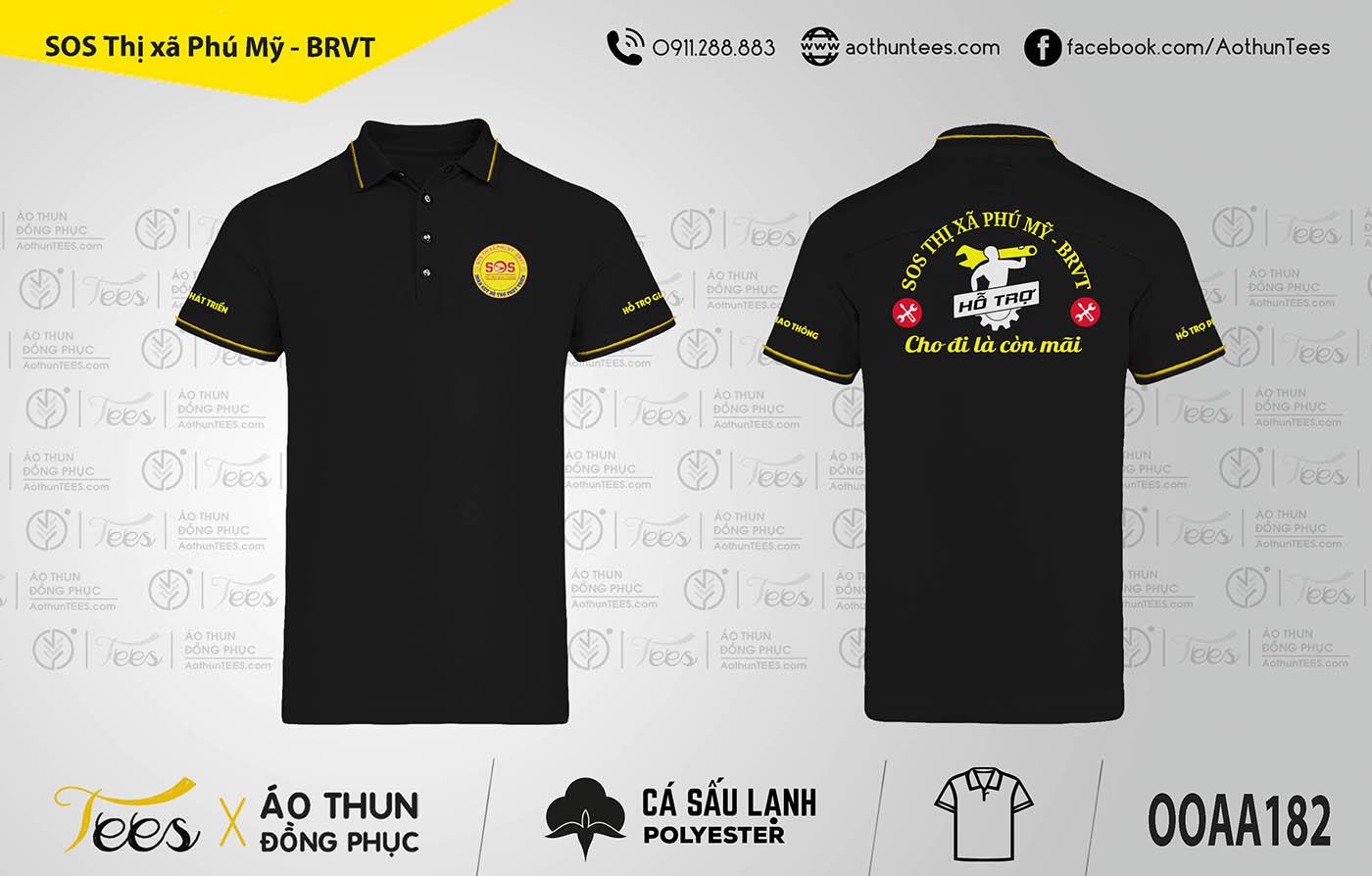 Áo thun đồng phục nhóm SOS Thị xã Phú Mỹ – Bà Rịa, Vũng Tàu