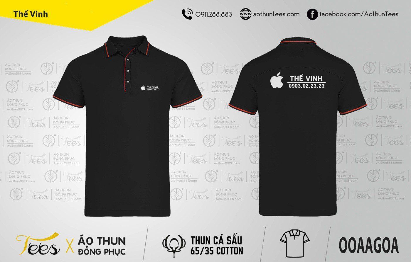 Áo thun đồng phục Cửa hàng Thế Vinh Apple
