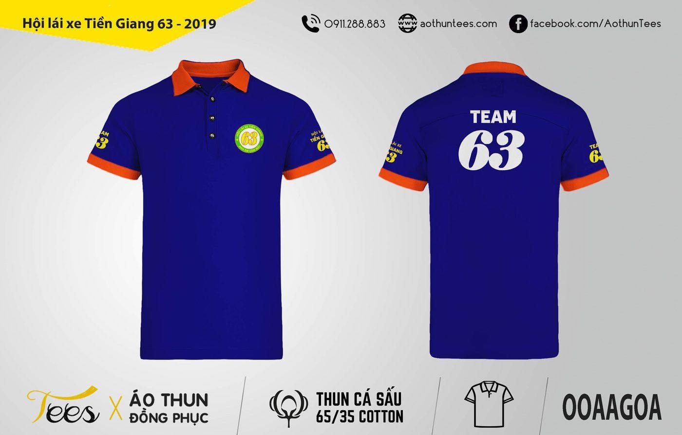 Áo thun đồng phục – Hội lái xe Tiền Giang – Năm 2019