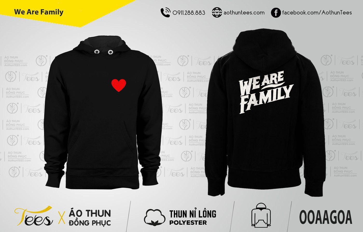 Áo hoodie Nhóm We are family