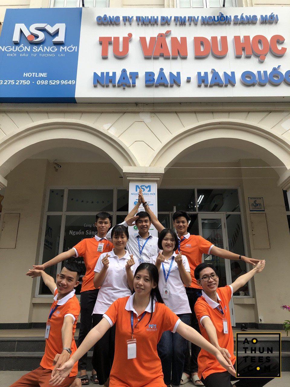 Áo thun đồng phục Công ty Nguồn sáng mới – Du học Nhật Bản