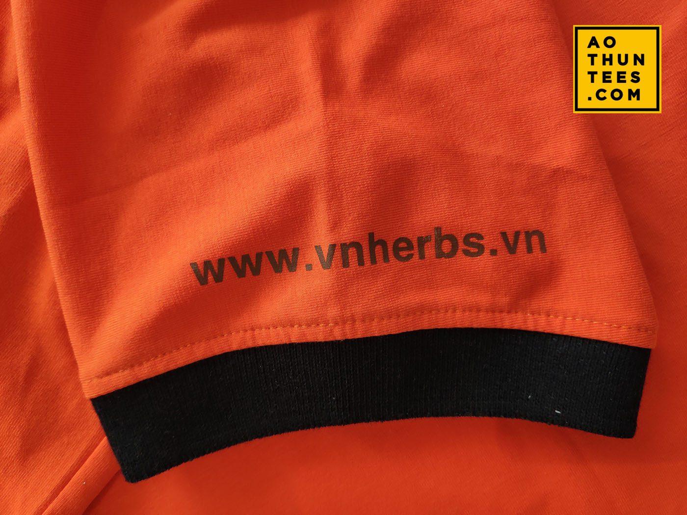 Áo thun đồng phục Công ty VNHERBS – Đông trùng hạ thảo
