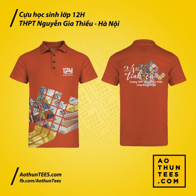 Áo thun đồng phục Cựu học sinh lớp 12H – THPT Nguyễn Gia Thiều – Hà Nội