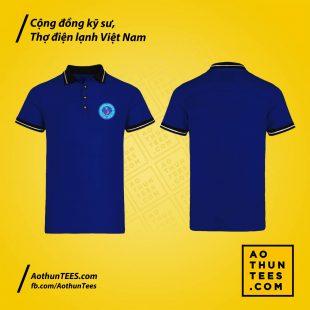 Áo thun đồng phục Cộng đồng kỹ sư, thợ điện lạnh Việt Nam – HVACRVN