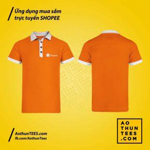 Áo thun đồng phục ứng dụng mua sắm trực tuyến Shopee