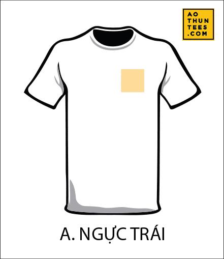 vi tri in tren ao thun A - 19 vị trí hình in trên áo thun phổ biến nhất