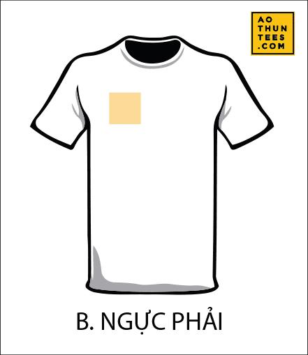 vi tri in tren ao thun B - 19 vị trí hình in trên áo thun phổ biến nhất