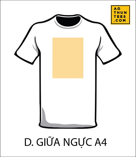 vi tri in tren ao thun D - 19 vị trí hình in trên áo thun phổ biến nhất