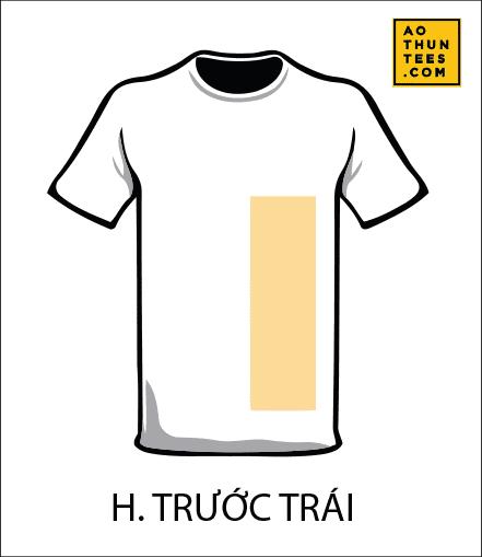 vi tri in tren ao thun H - 19 vị trí hình in trên áo thun phổ biến nhất