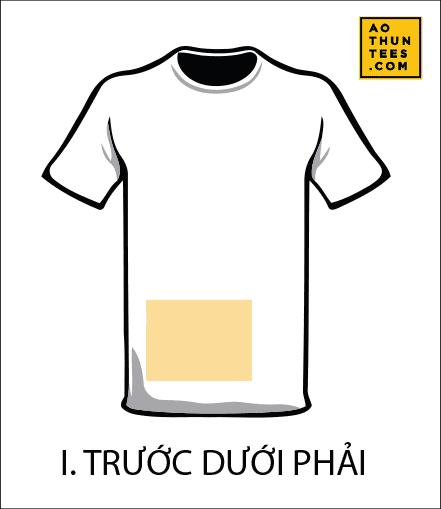 vi tri in tren ao thun I - 19 vị trí hình in trên áo thun phổ biến nhất