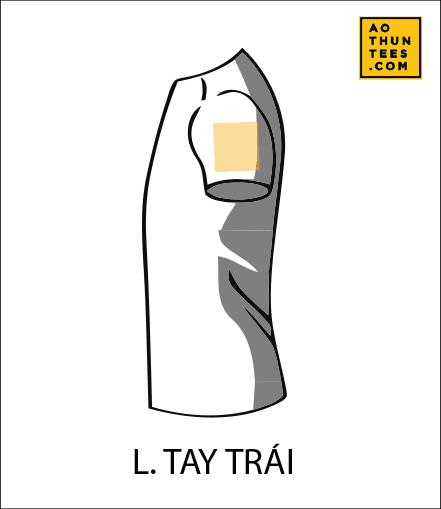 vi tri in tren ao thun L - 19 vị trí hình in trên áo thun phổ biến nhất